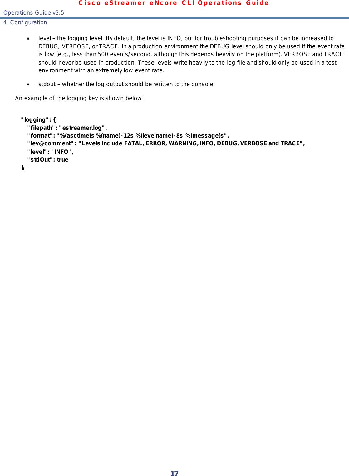 EStreamer ENcore CLI Operations Guide V3 5 E Streamere Ncore
