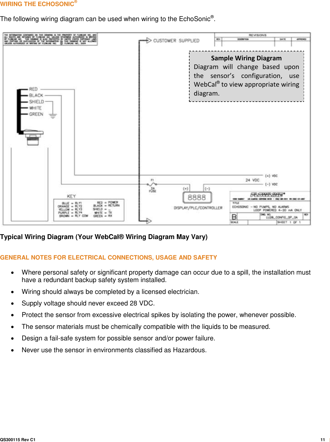 Feature Echo Sonic Ii Lu27 0 1 Quick Start Guide Echosonic Qsg Wiring Diagram Page 11 Of 12