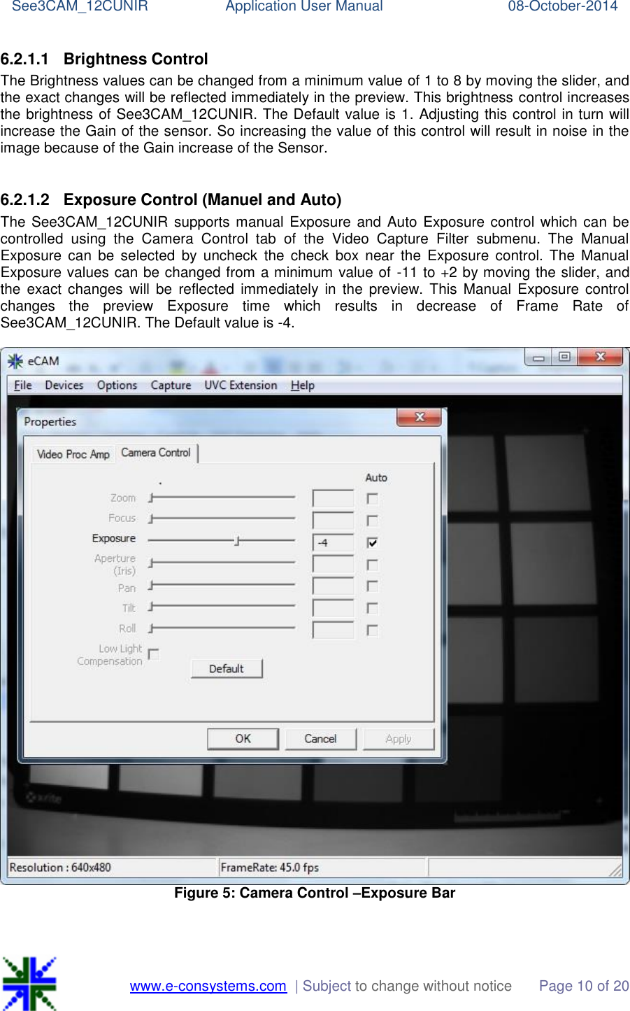 E con See3CAM 12CUNIR Windows SW CAMView App User Manual