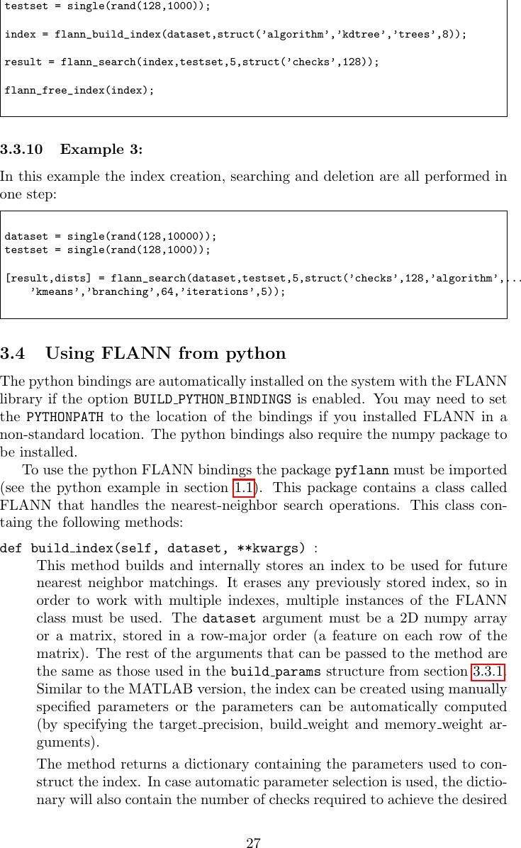 Flann Manual 1 8 4