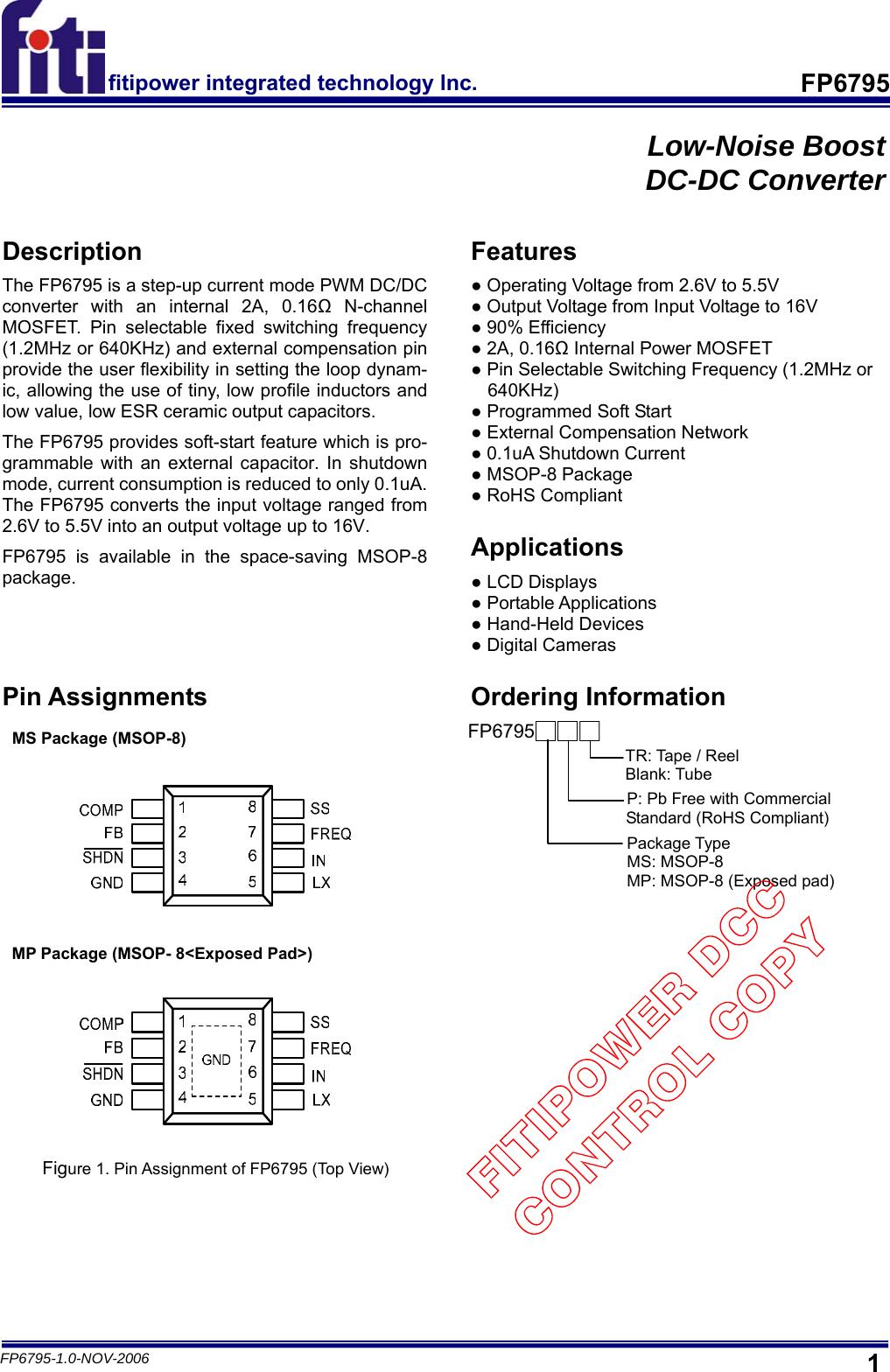 FP6795 Datasheet  Www s manuals com  Fiti