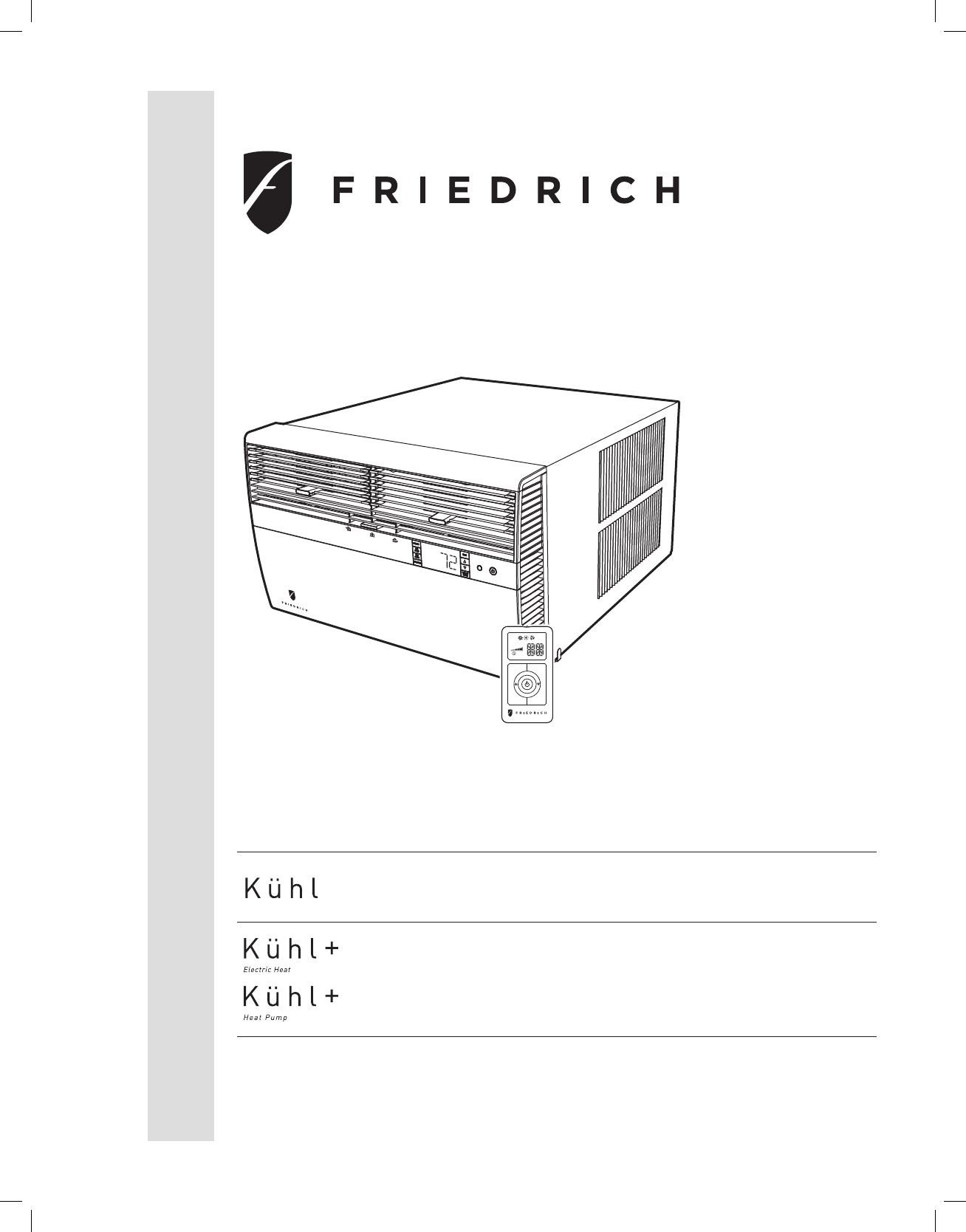 Friedrich Air Conditioner Sl25 Sm24m30 User Manual Conditioners Wiring Diagram Installation And Operation