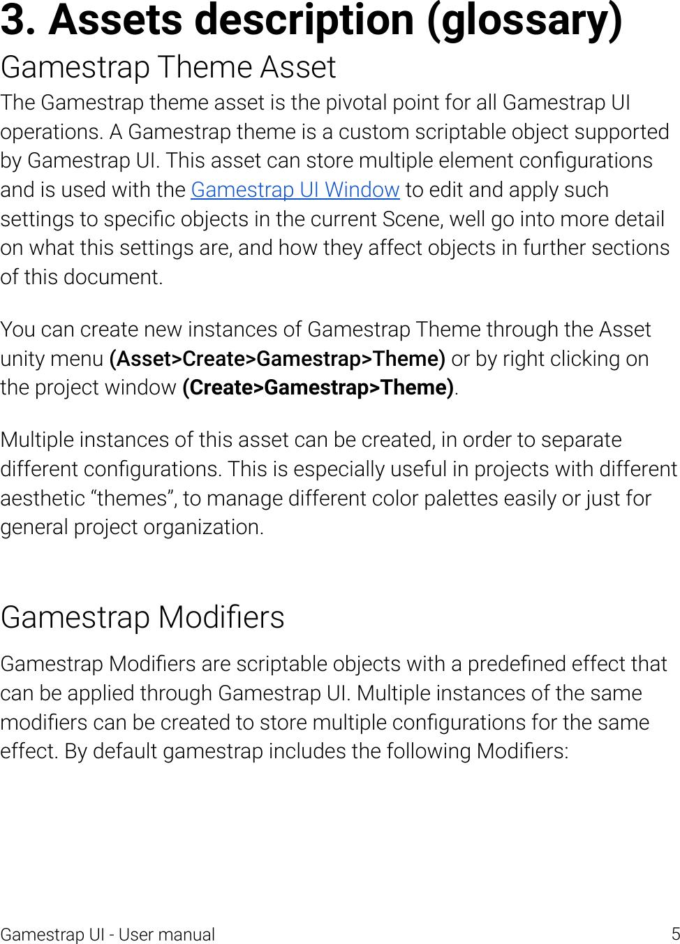 Gamestrapui Manual