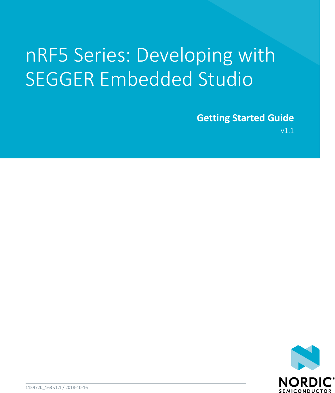 NRF5 Series: Developing With SEGGER Embedded Studio Getting