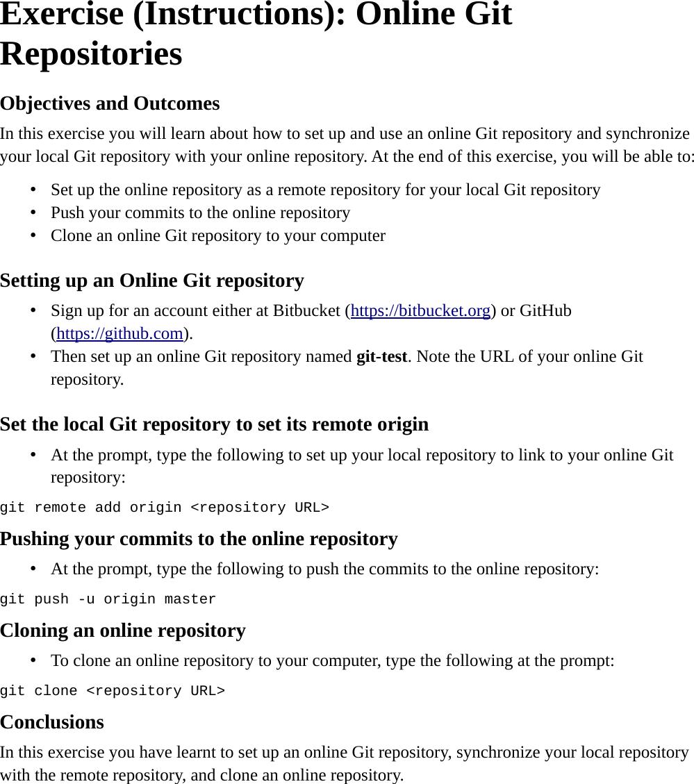 Git Instructions