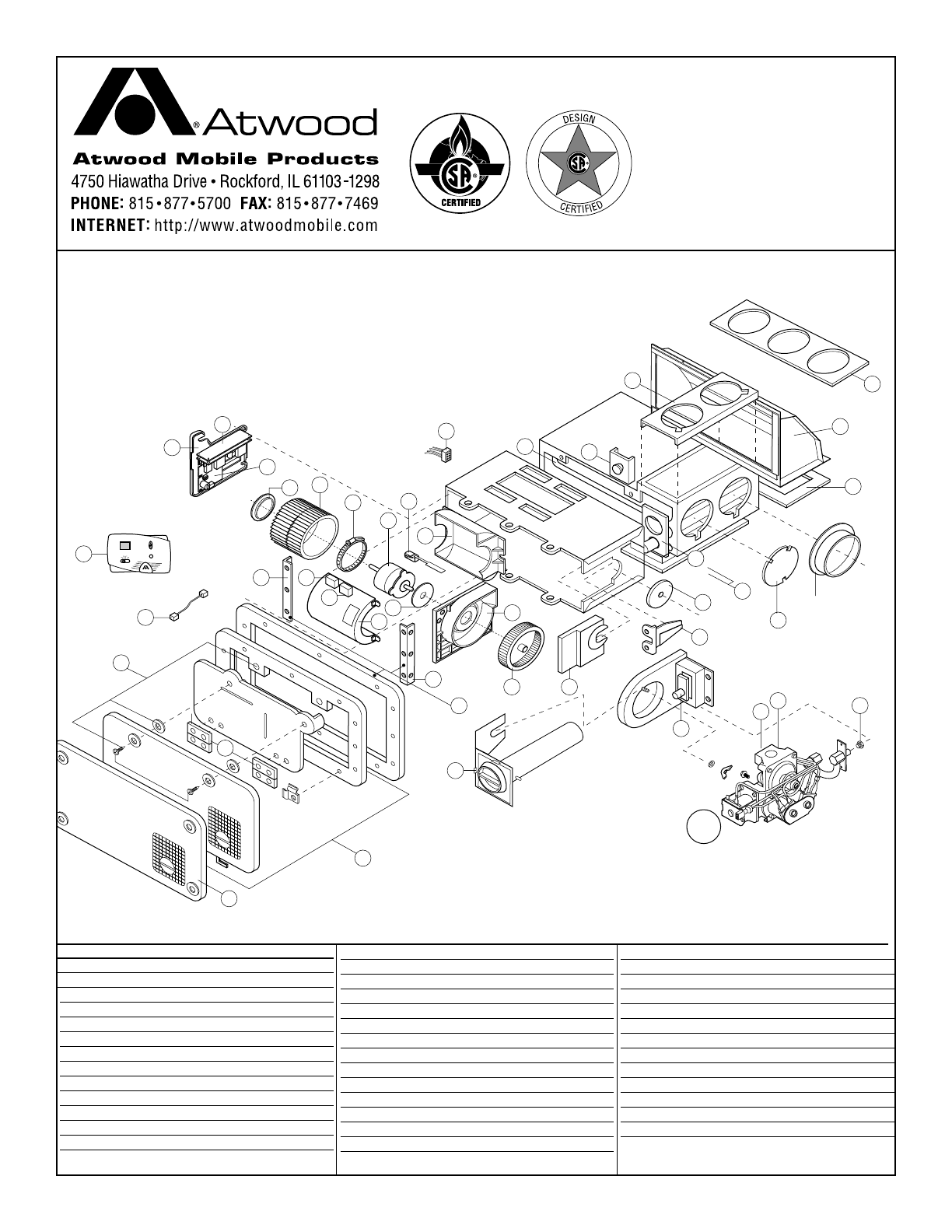 Atwood 36278 Furnace Adapter Assembly