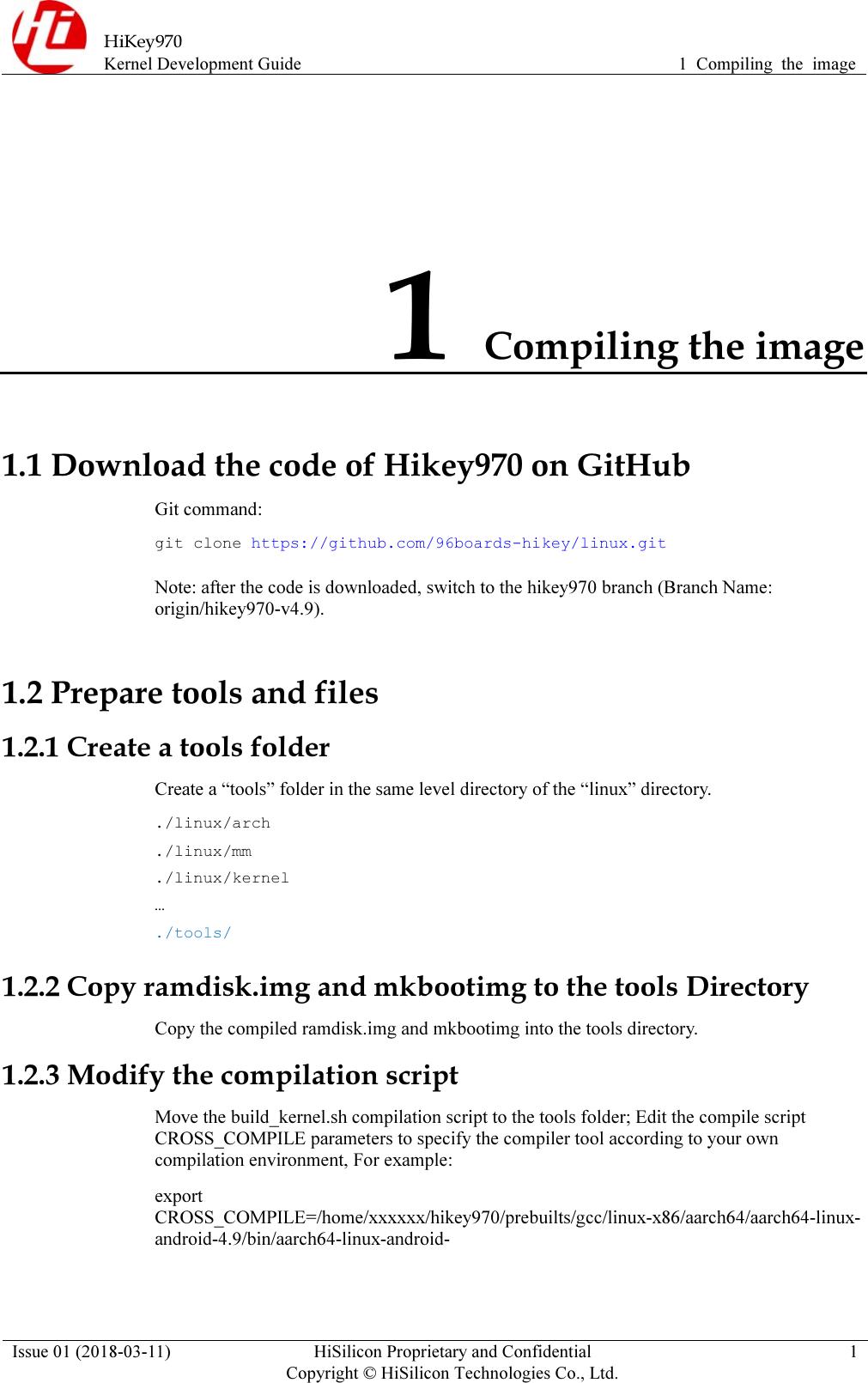 Hikey970 Kernel Development Guide