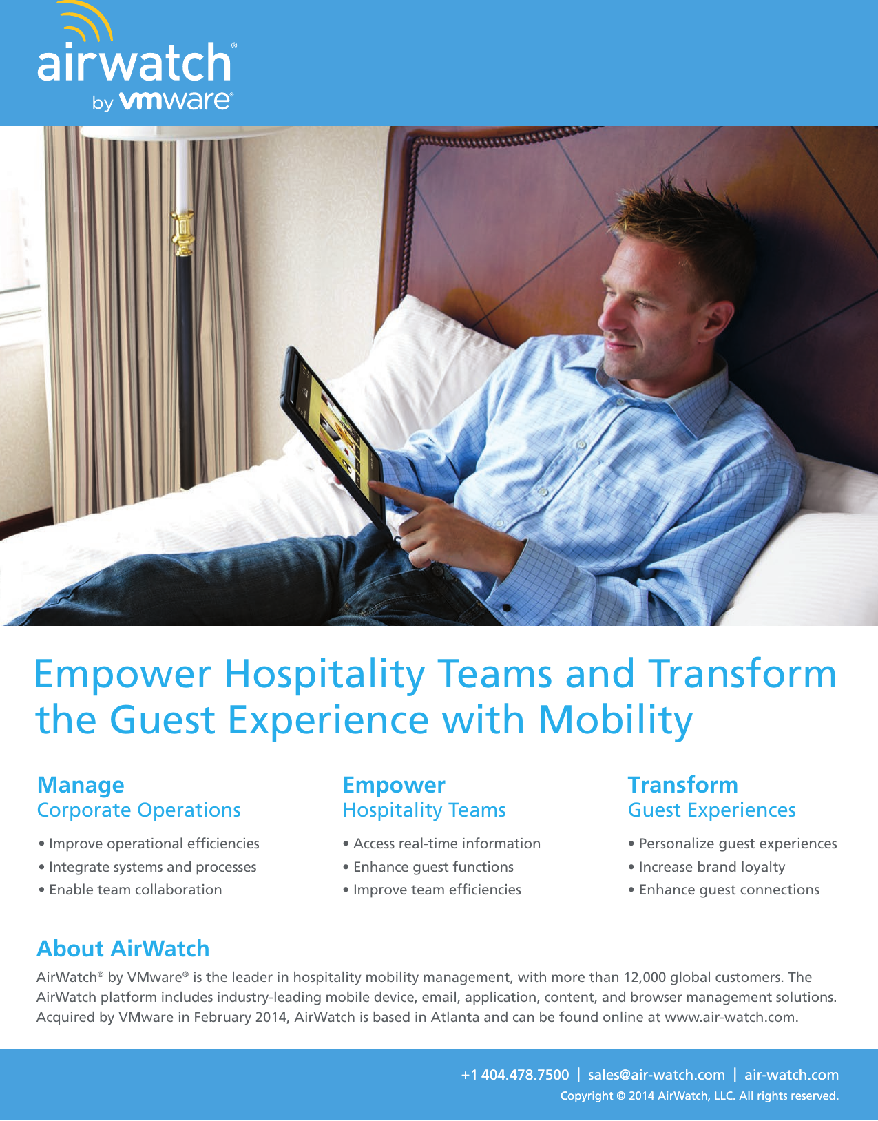 AirWatch By VMware Overview Hospitality brochure