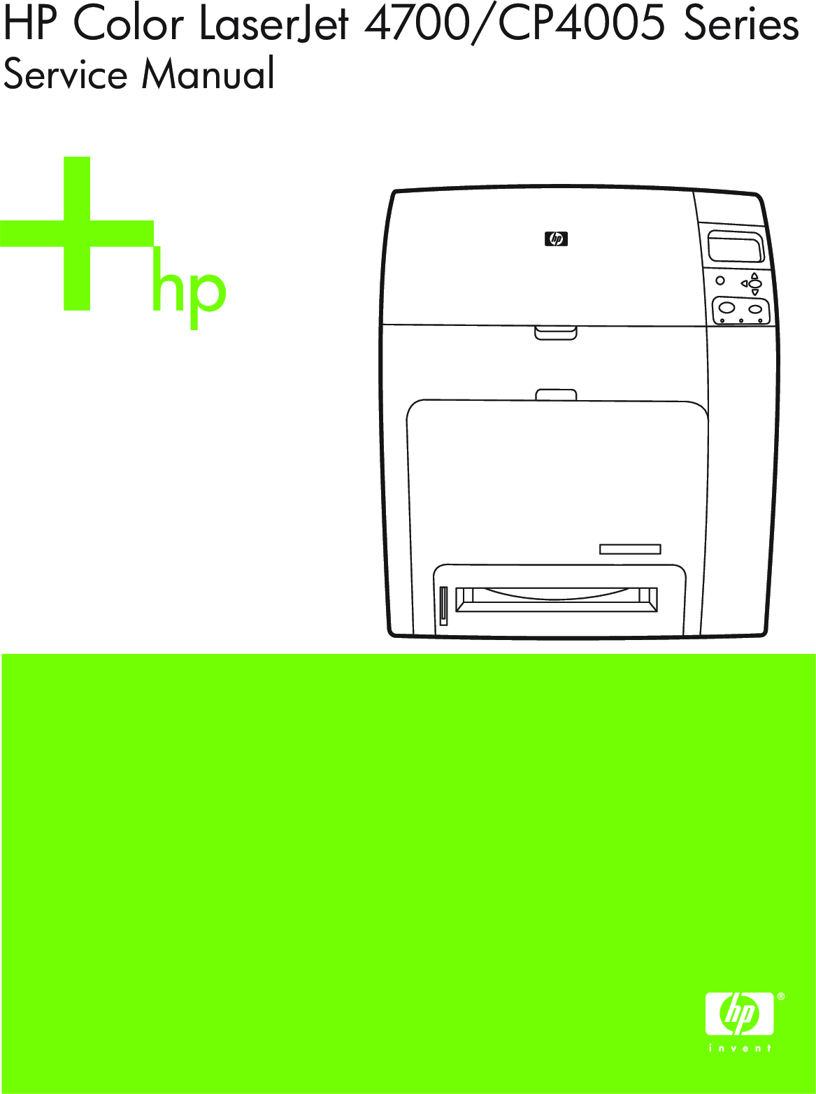 HP Color LaserJet 4700, CP4005 Series Service Manual. Www.s manuals.com.  Manual