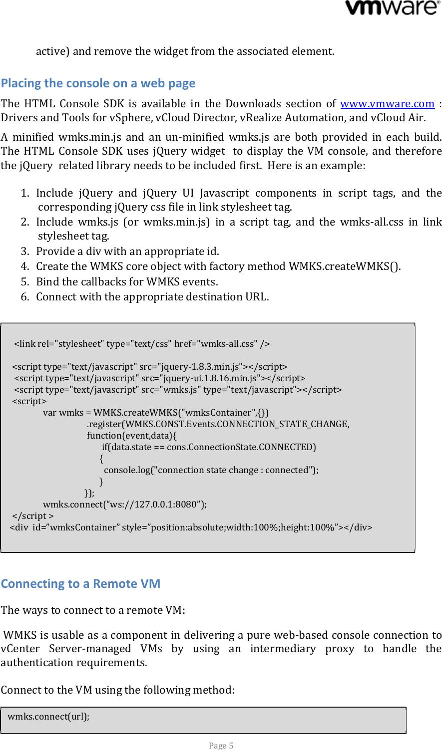 WMKS_SDK_Programming_Guidex Html console sdk 210 programmer