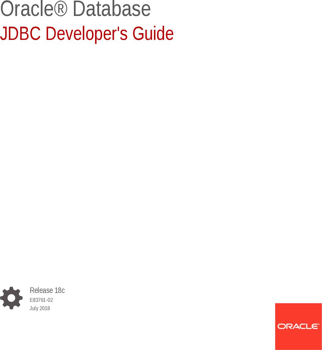 JDBC Developer's Guide developers