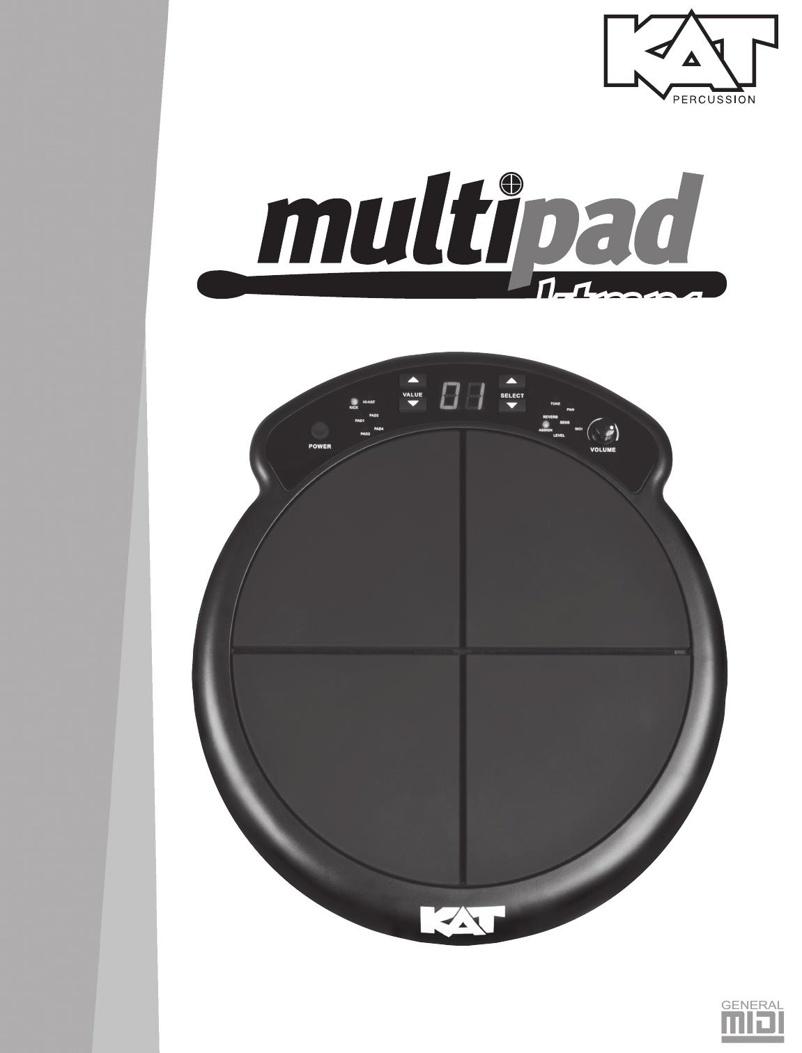 KAT Percussion KTMP1 User Manual (English) Worldmanual English