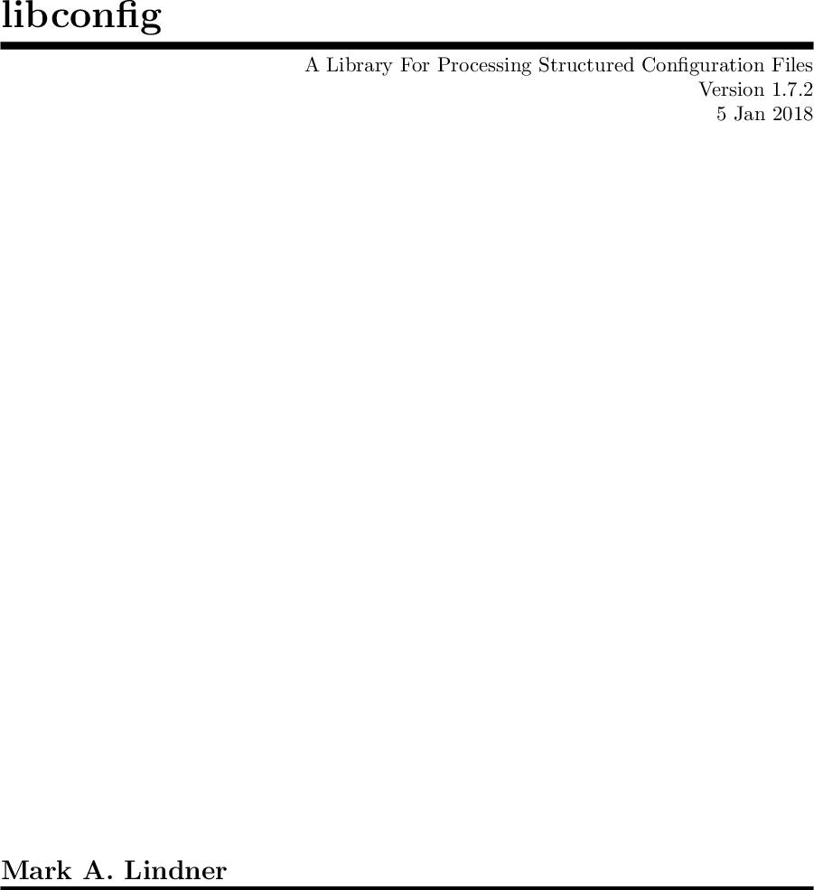 Libconfig Manual