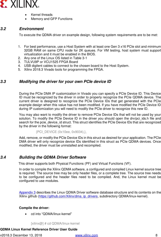 User Guide Linux Qdma Driver