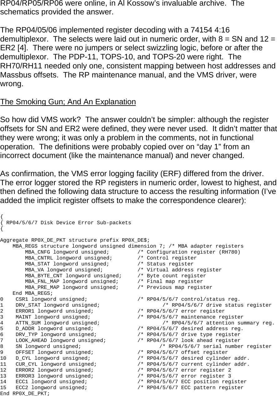 Massbus Follies, Or, PDF Massbusmystery