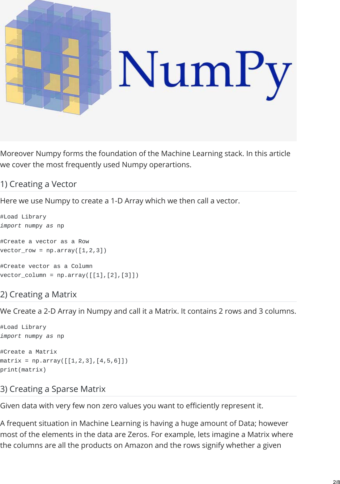 An Essential Guide To Numpy For Machine Learning In Python Medium