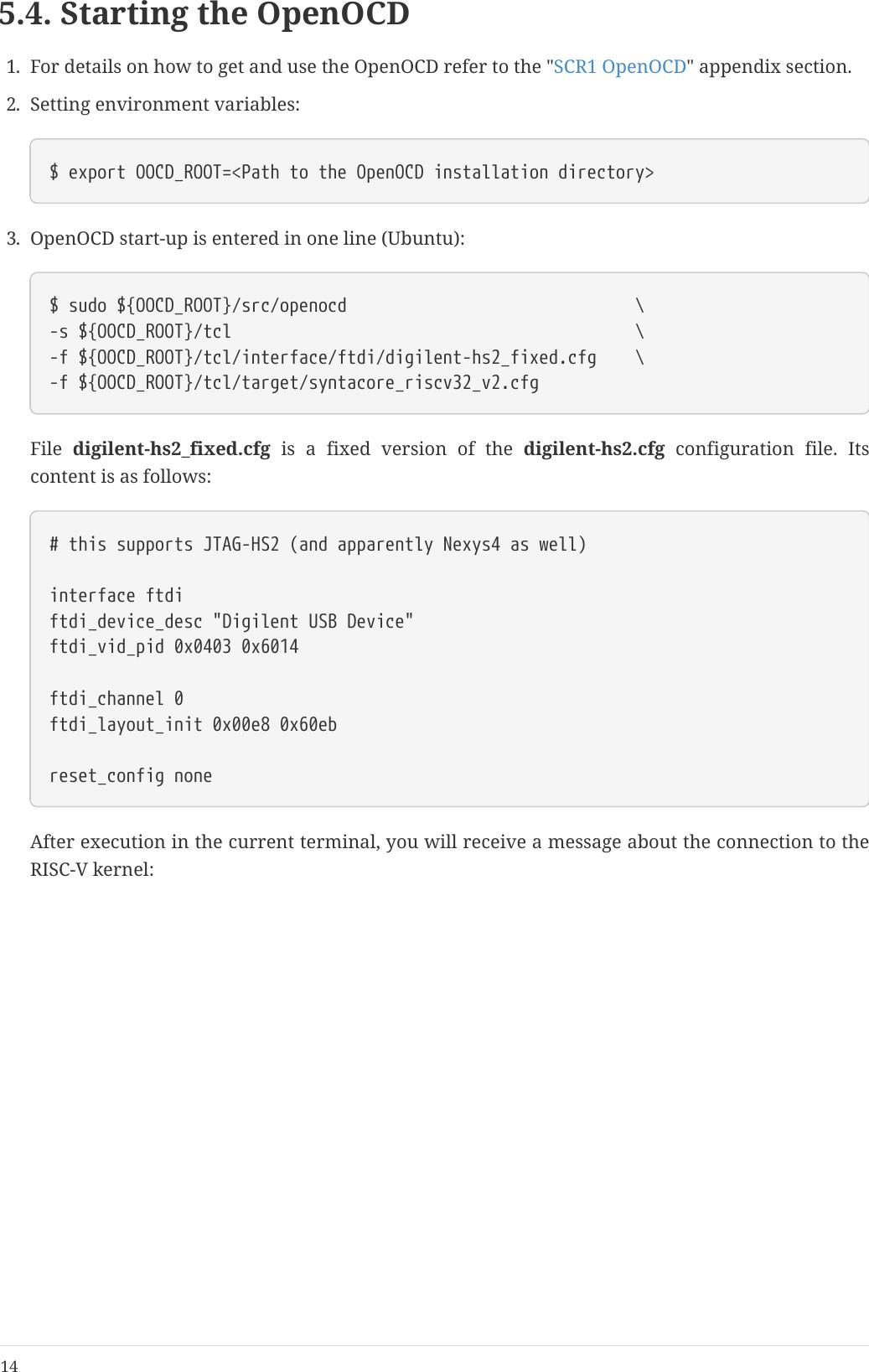 SCR1 SDK  Digilent Nexys4DDR Edition  Quick Start Guide En