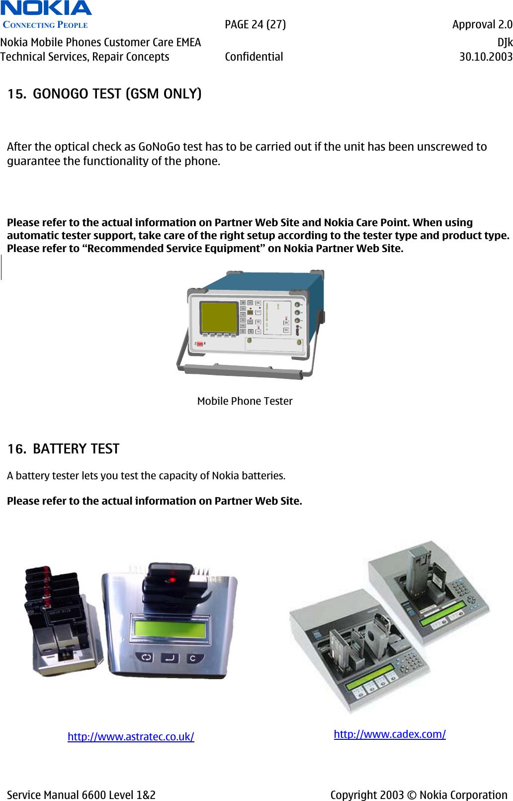 Service Manual 6600 Level 1&2 Nokia Nhl 10 1,2