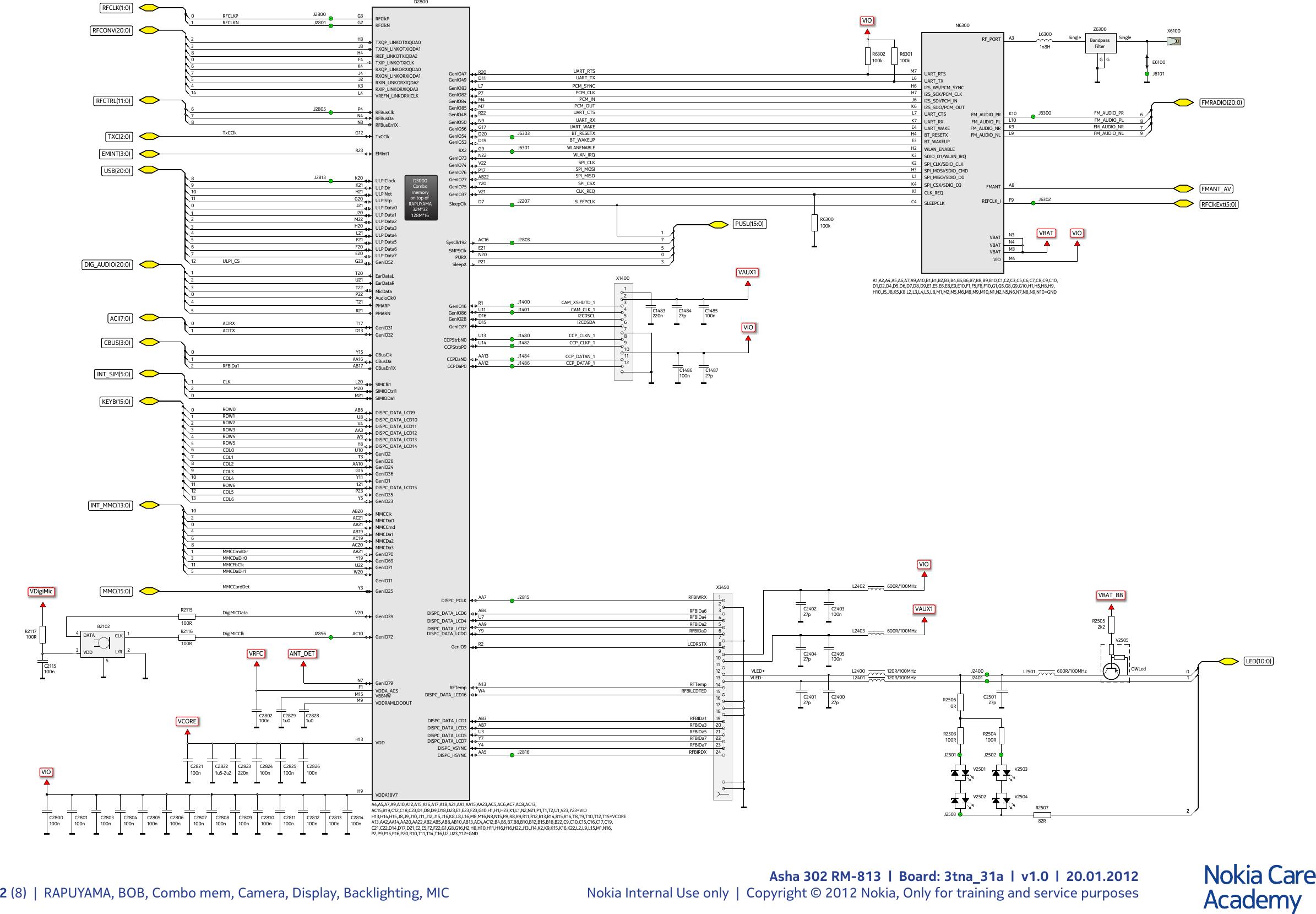 Schematic Nokia 1202 16 Pdf