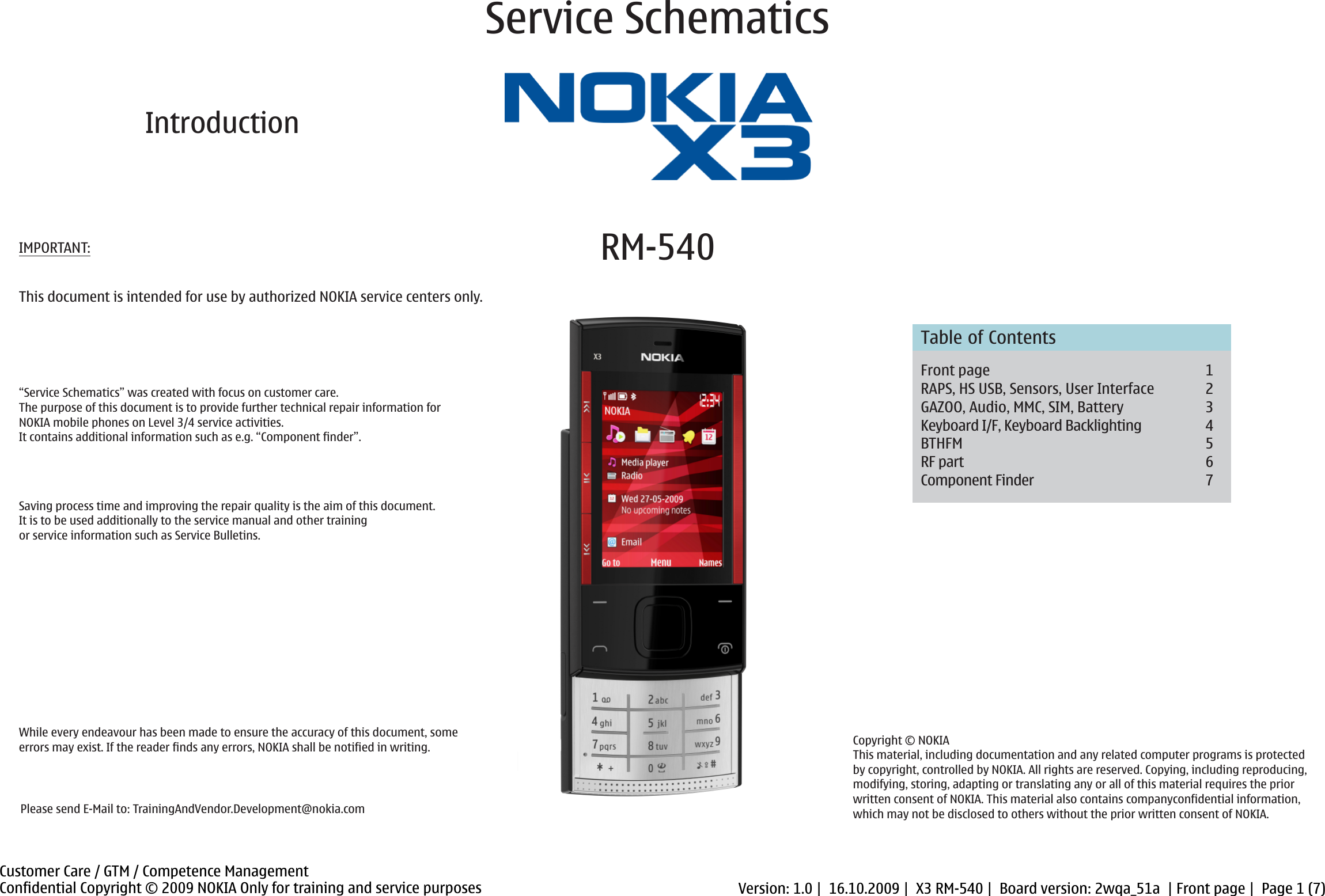 Schematic diagram: nokia x3-02 touch & type user guide manual.