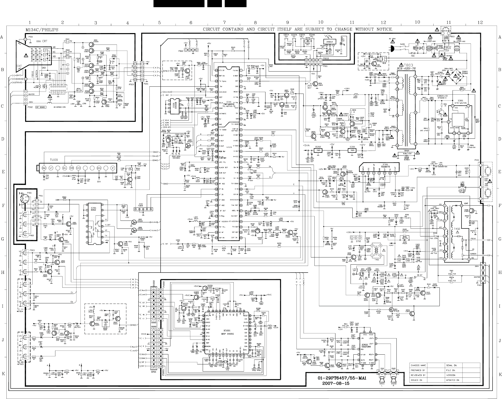 Tc51l Cb 312278517510 29pt6457 Philips Chassis Highpass Hp Active Filter For 1khz Circuit Diagram Diagrams And Cba Layouts En 11tc51l 7