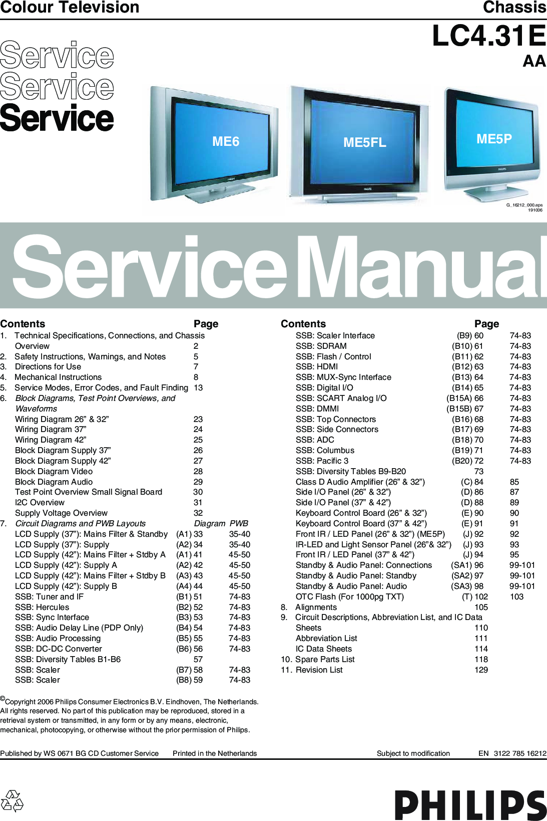 Philips Chassis Lc4 31e Aa Service Manual   S Manuals