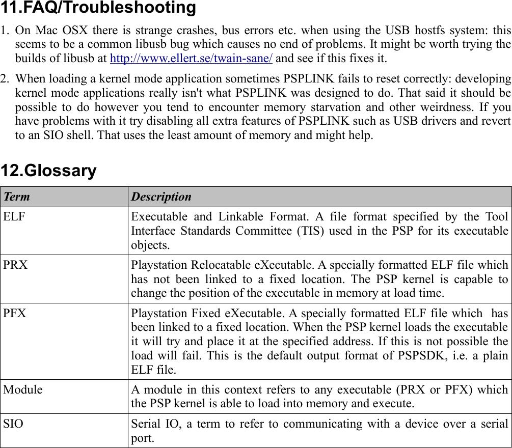 Psplink Manual