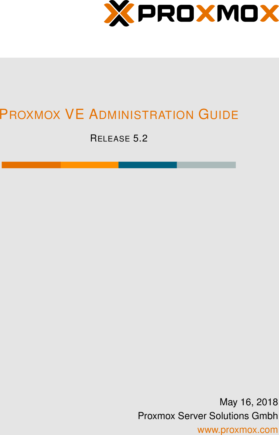 Proxmox VE Administration Guide Pve admin