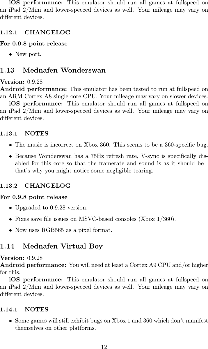 RetroArch Cores Manual