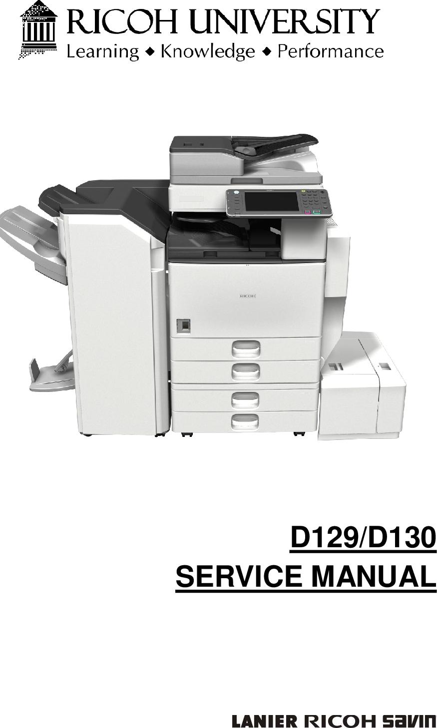 Ricoh D129, D130 Service Manual  Www s manuals com  Manual