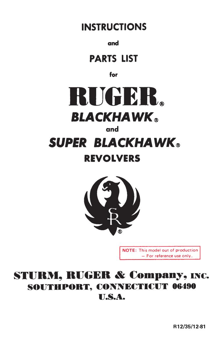 Blackhawk PDF Ruger Om