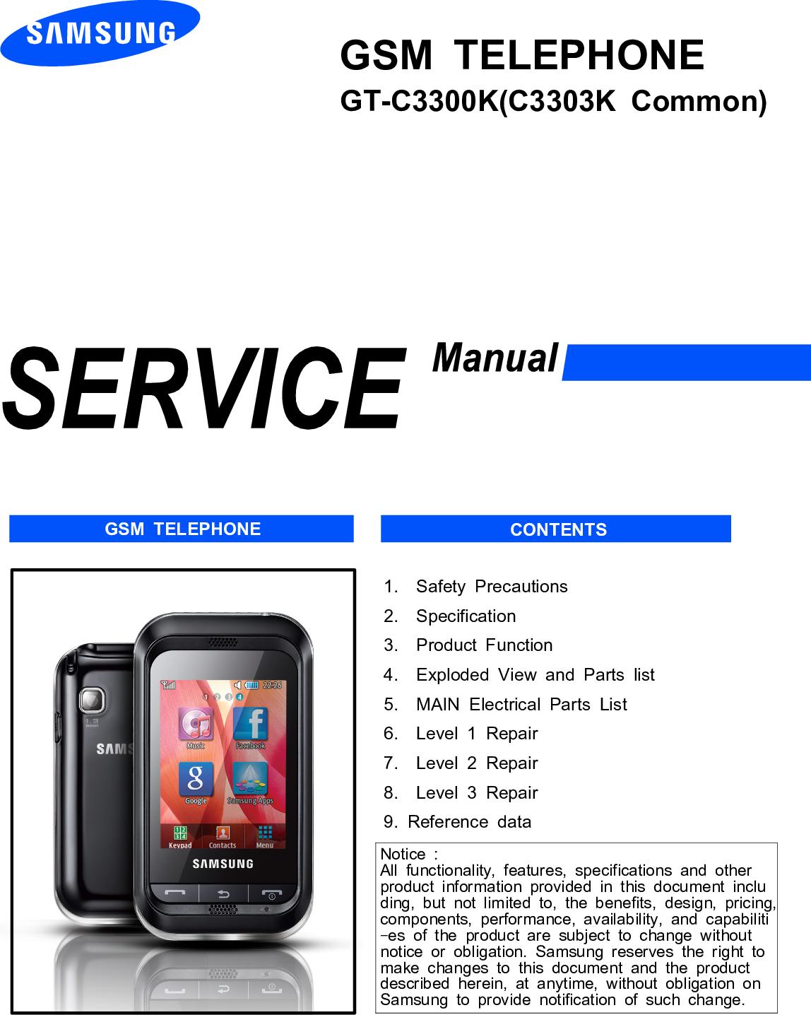 Samsung GT C3300K Service Manual  Www s manuals com  Manual
