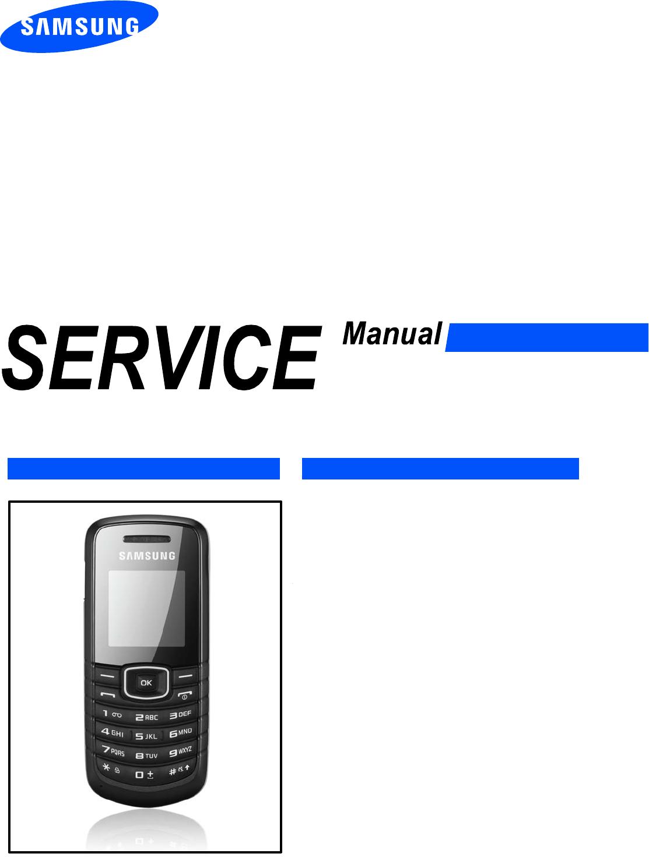 Samsung GT E1080 Service Manual  Www s manuals com  Manual