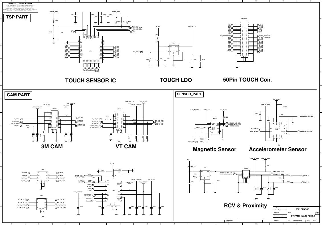 Page 10 of 11 - Samsung GT-P3100 - Schematics. Www.s-manuals.com. R0.6 Schematics