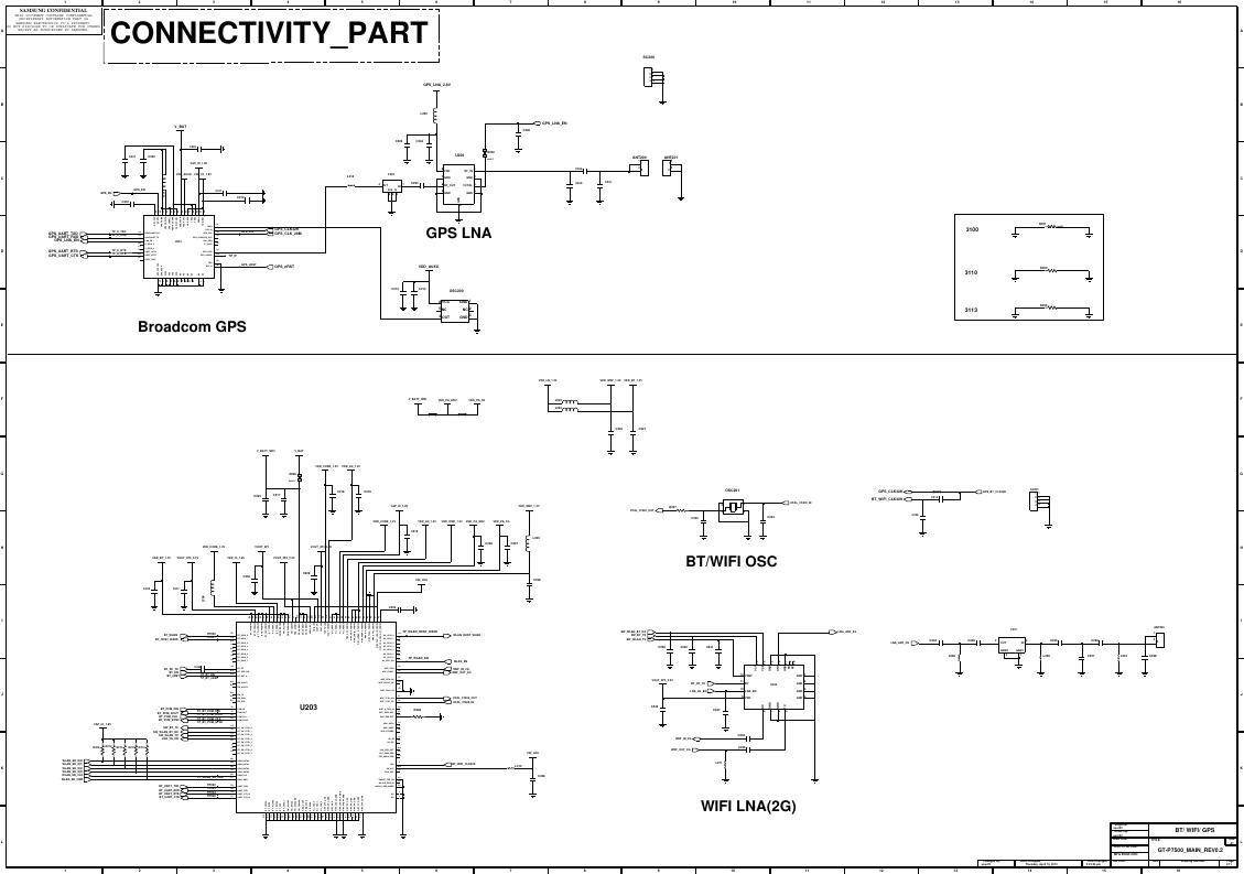 Page 3 of 11 - Samsung GT-P3100 - Schematics. Www.s-manuals.com. R0.6 Schematics