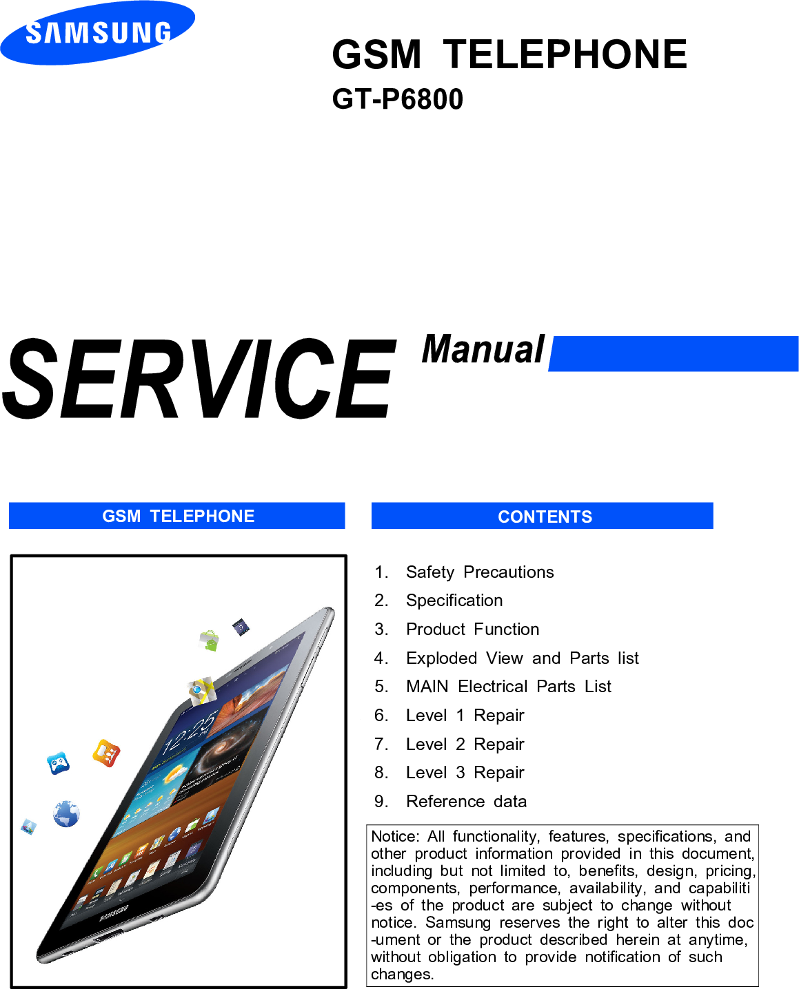 samsung gt p6800 service manual www s manuals com manual rh usermanual wiki