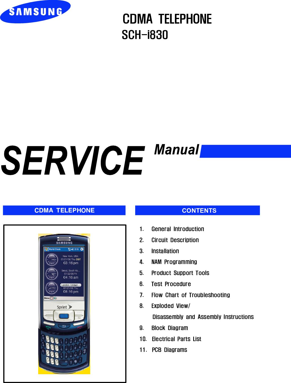 Samsung Sch I830 Service Manual S Manualscom Wiring Diagram For Smc Modem