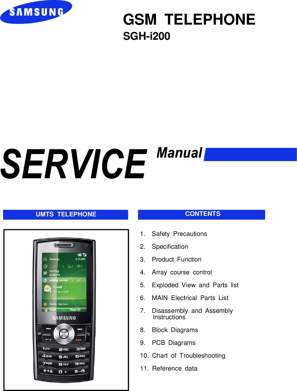 Samsung SGH i200 Service Manual  Www s manuals com  Manual R1 0
