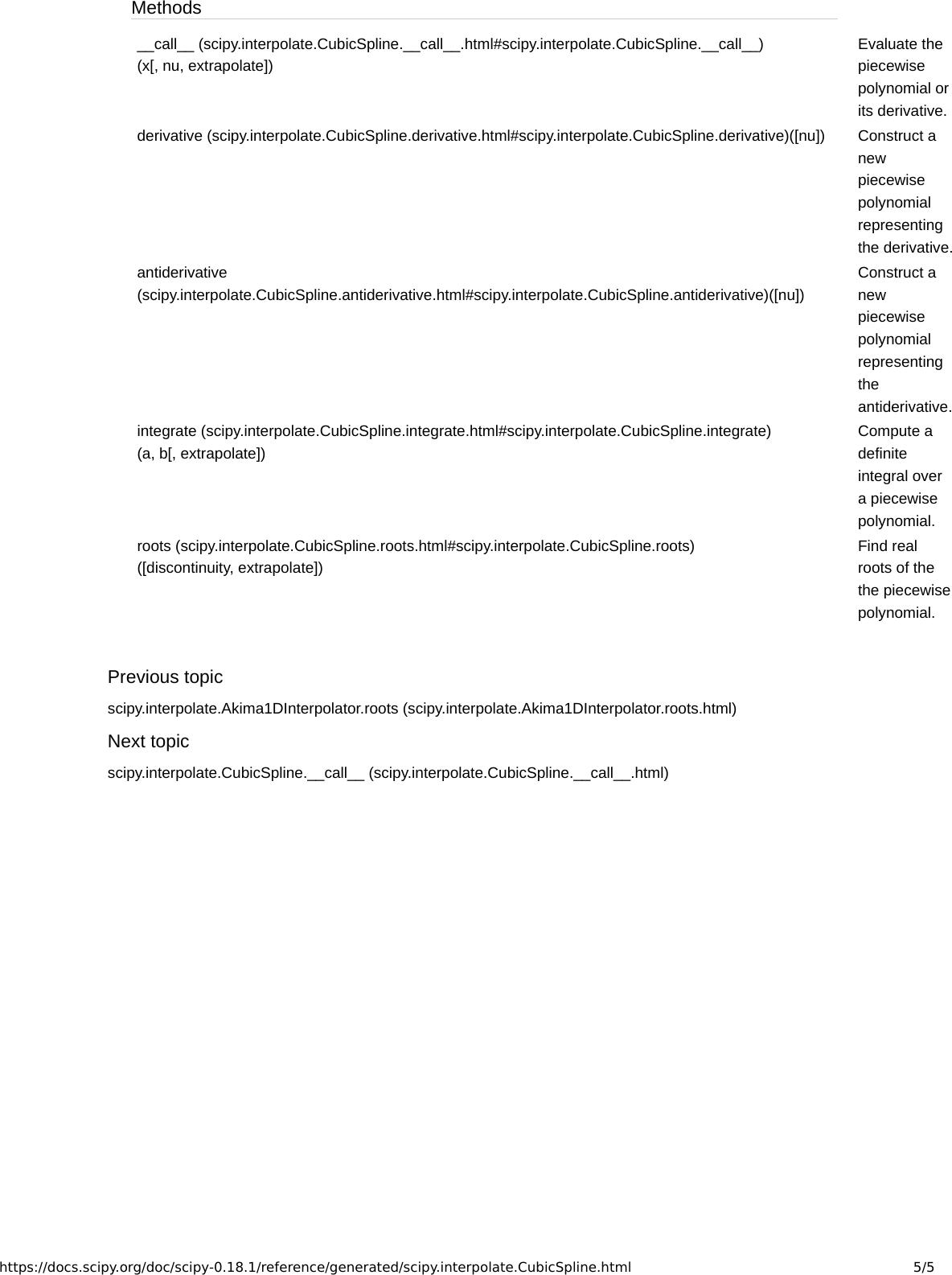 Scipy interpolate Cubic Spline — Sci Py V0 18 1 Reference Guide