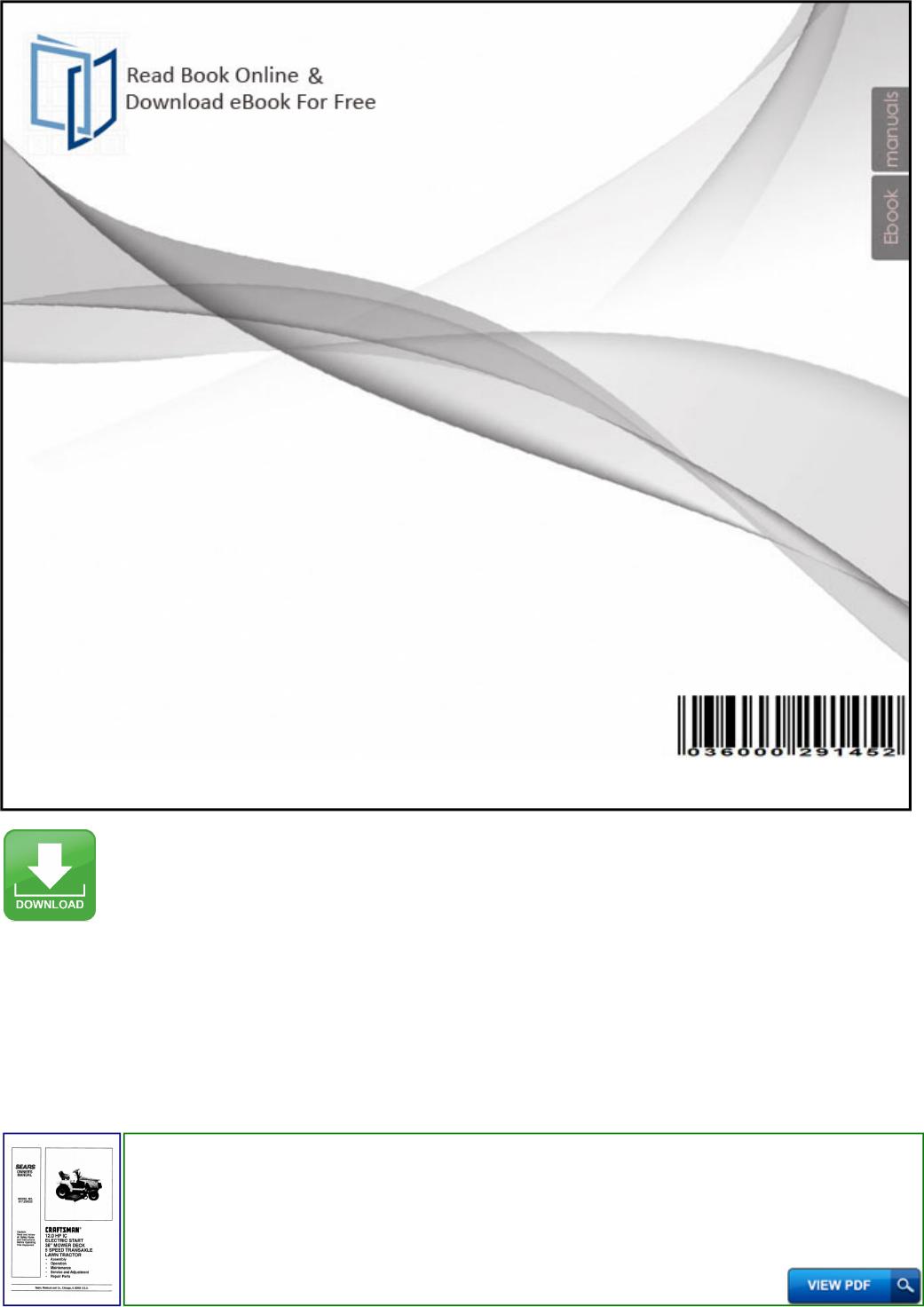 Sears Owner Manual Craftsman Import 100809 Productmanualguide com !!