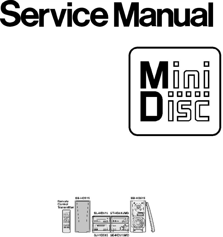 AD0003058C2. Mini Disc Deck. SJ-HD515