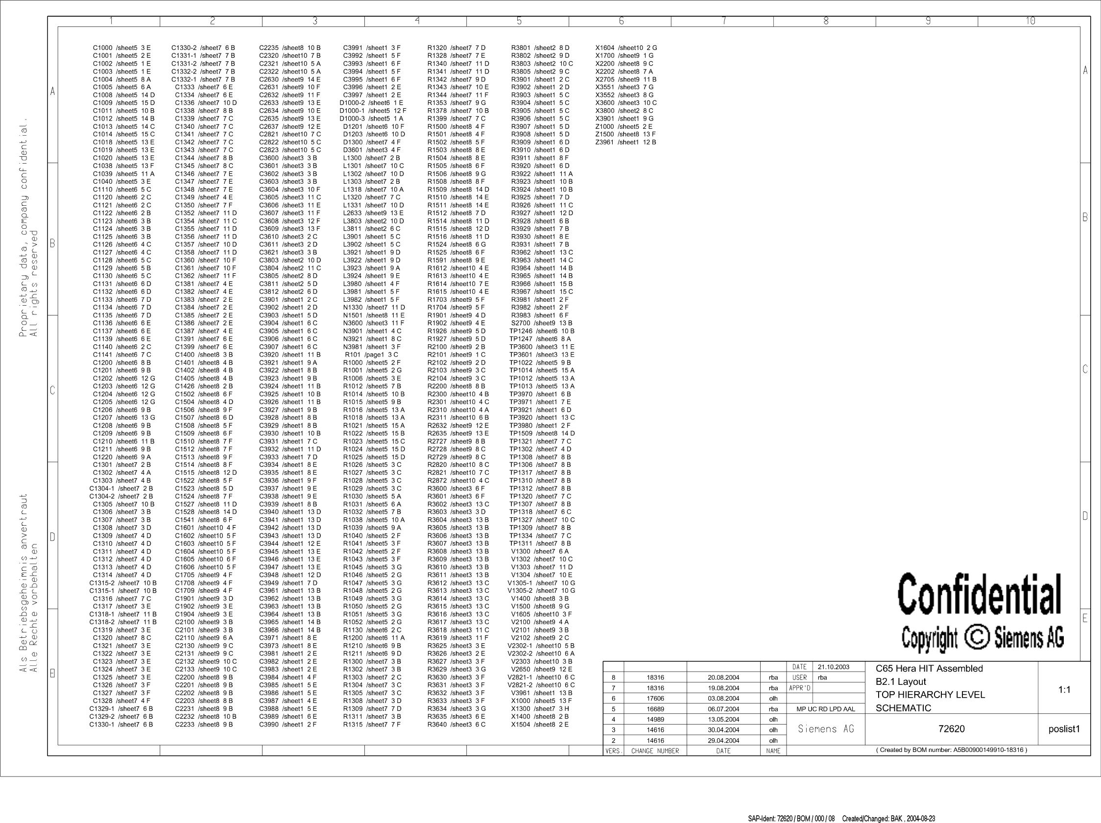 Siemens C65 Schematics