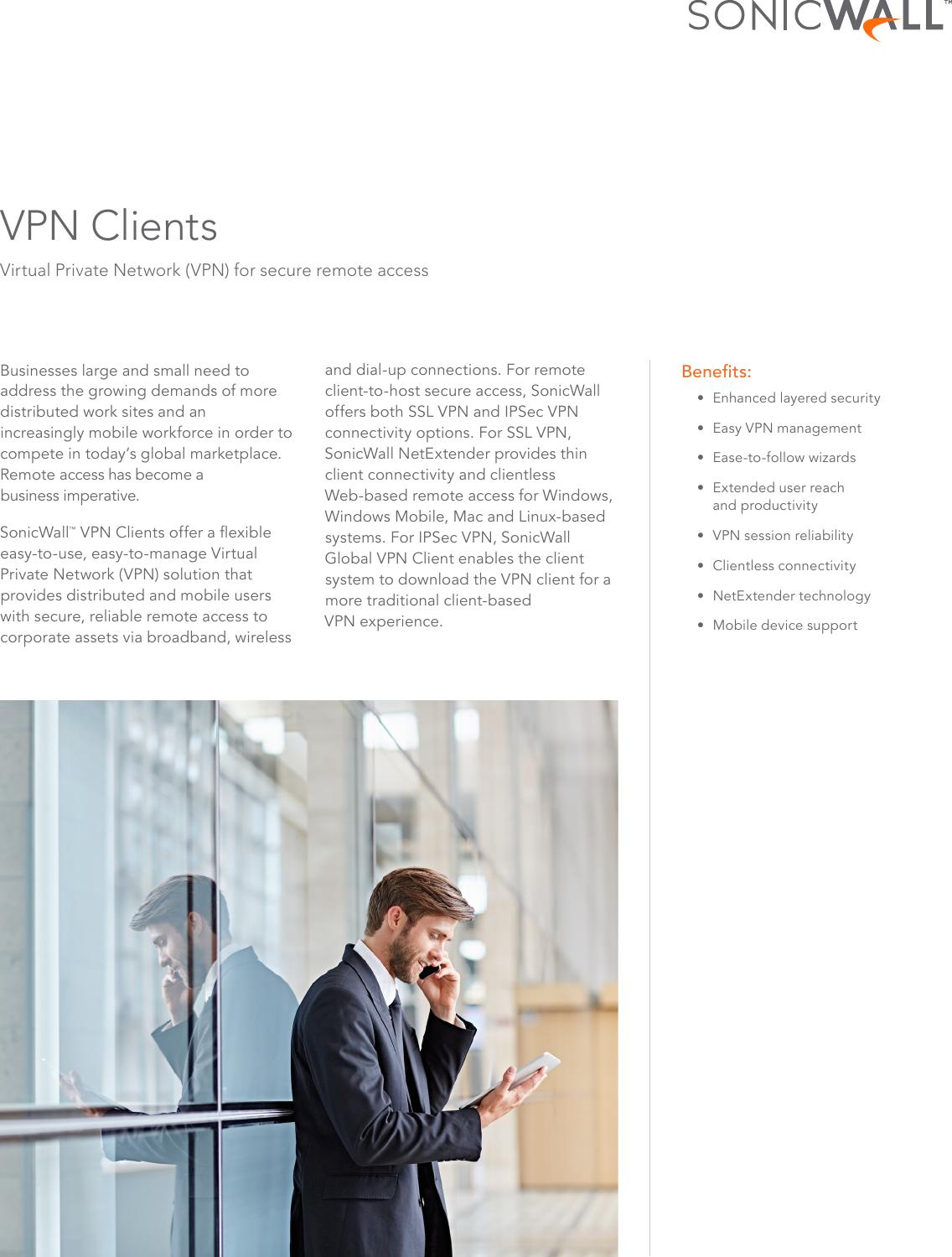 Sonicwall vpn client datasheet 29633