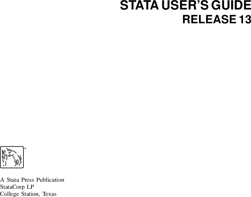 U] User's Guide Stata User