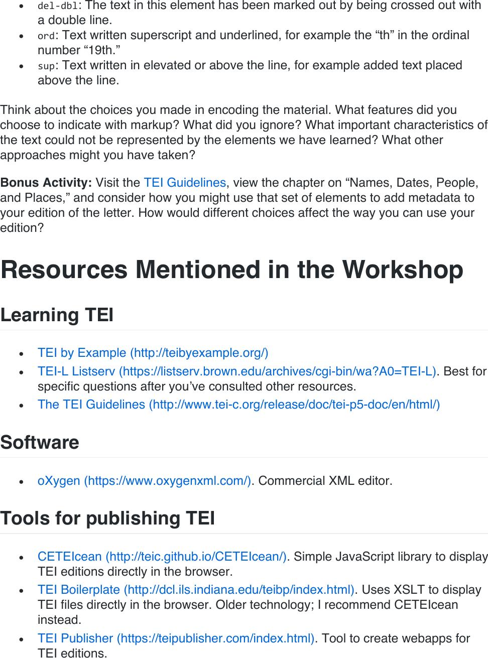 Tei workshop instructions