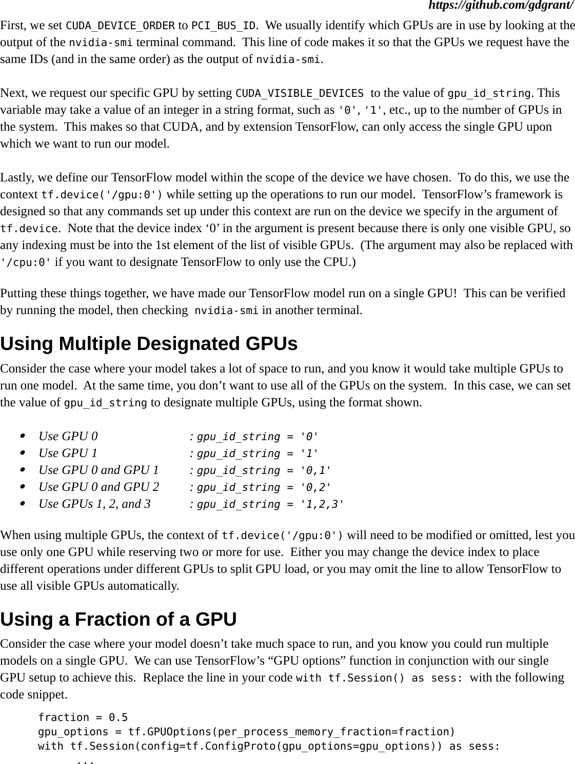 Tensorflow on gpu guide