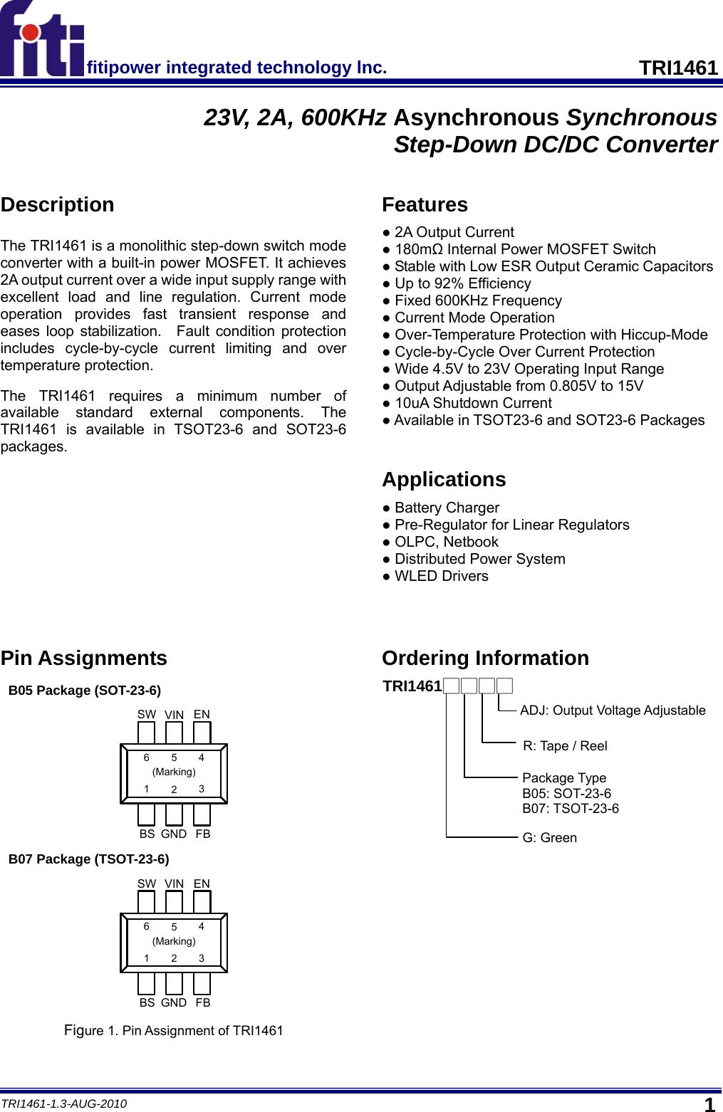 TRI1461 Datasheet  Www s manuals com  R1 3 Fiti