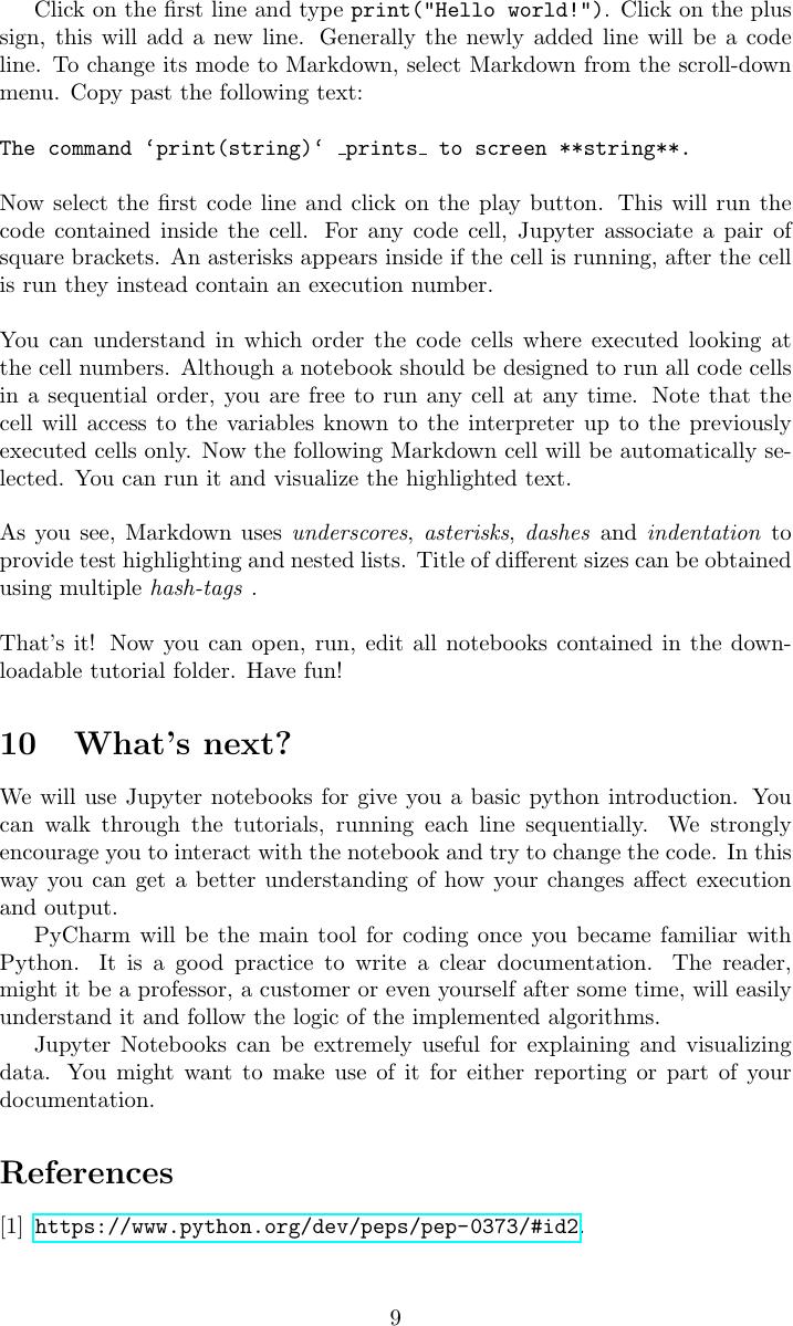 Tutorial Guide