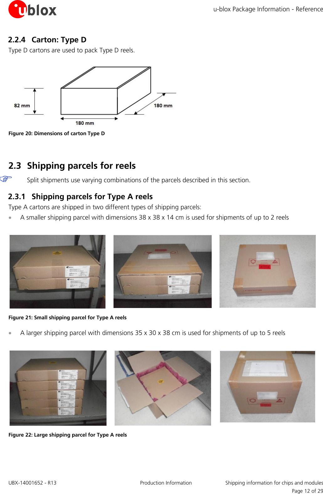 U blox Package Information Guide