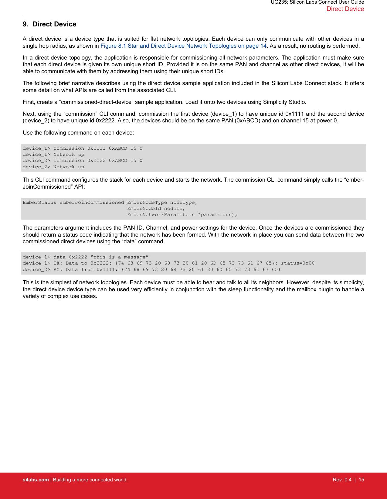 UG235: Silicon Labs Connect User Guide Ug235